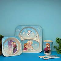 Бамбуковая посуда для детей Холодное сердце Fozen