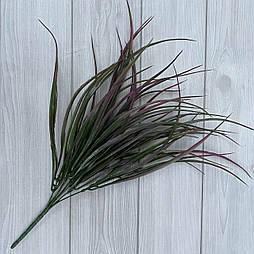 Декоративная трава. Искусственная осока сиреневая густая 40 см пластик (2 шт в уп)