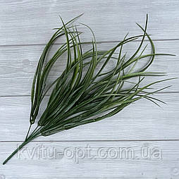 Декоративная трава. Искусственная осока зеленая густая 40 см пластик (2 шт в уп)