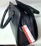 Женская каркасная сумка 33*24 см, черная змея, фото 3