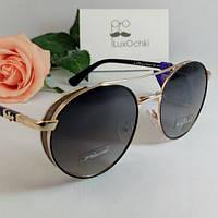 Новинка! Эксклюзивные круглые солнцезащитные поляризованные очки Thom RICHARD с широкими боковинами
