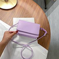 Модная женская сумка через плечо - Лавандовая, фото 2