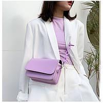 Модная женская сумка через плечо - Лавандовая, фото 5