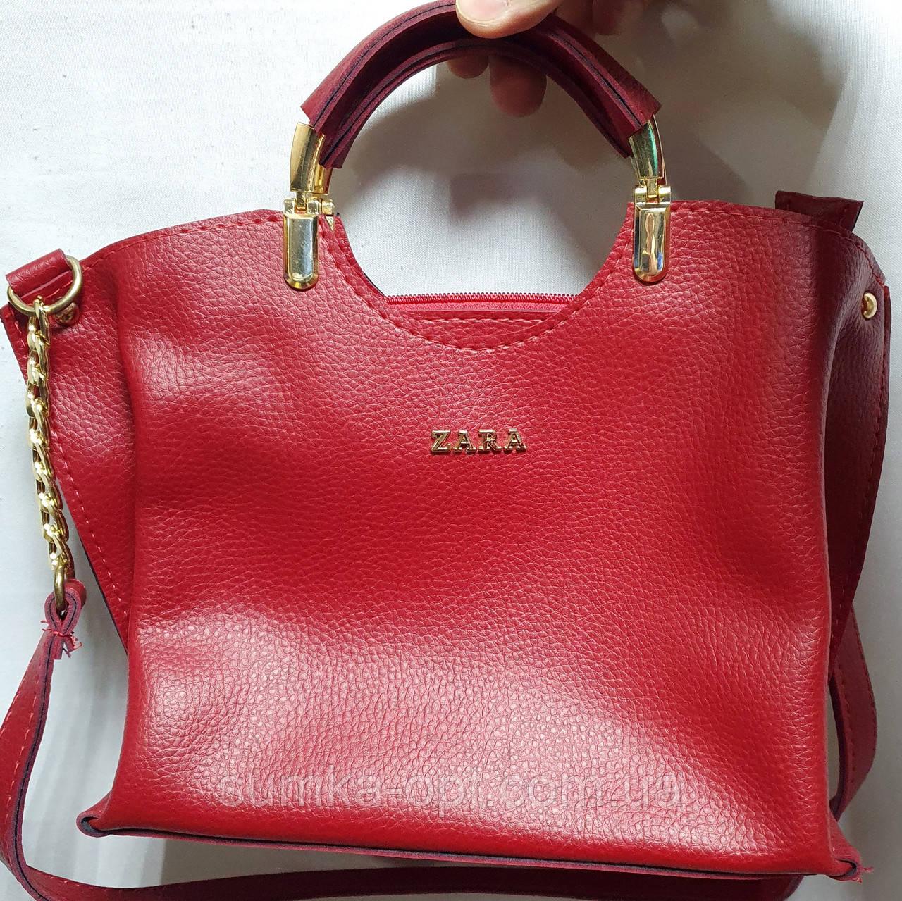 Брендова жіночий сумка Zara 26*25 см, бордо кожзам