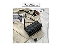 Модна жіноча сумка через плече - Чорний, фото 4