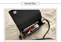 Модна жіноча сумка через плече - Чорний, фото 3