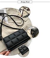 Модна жіноча сумка через плече - Чорний, фото 6