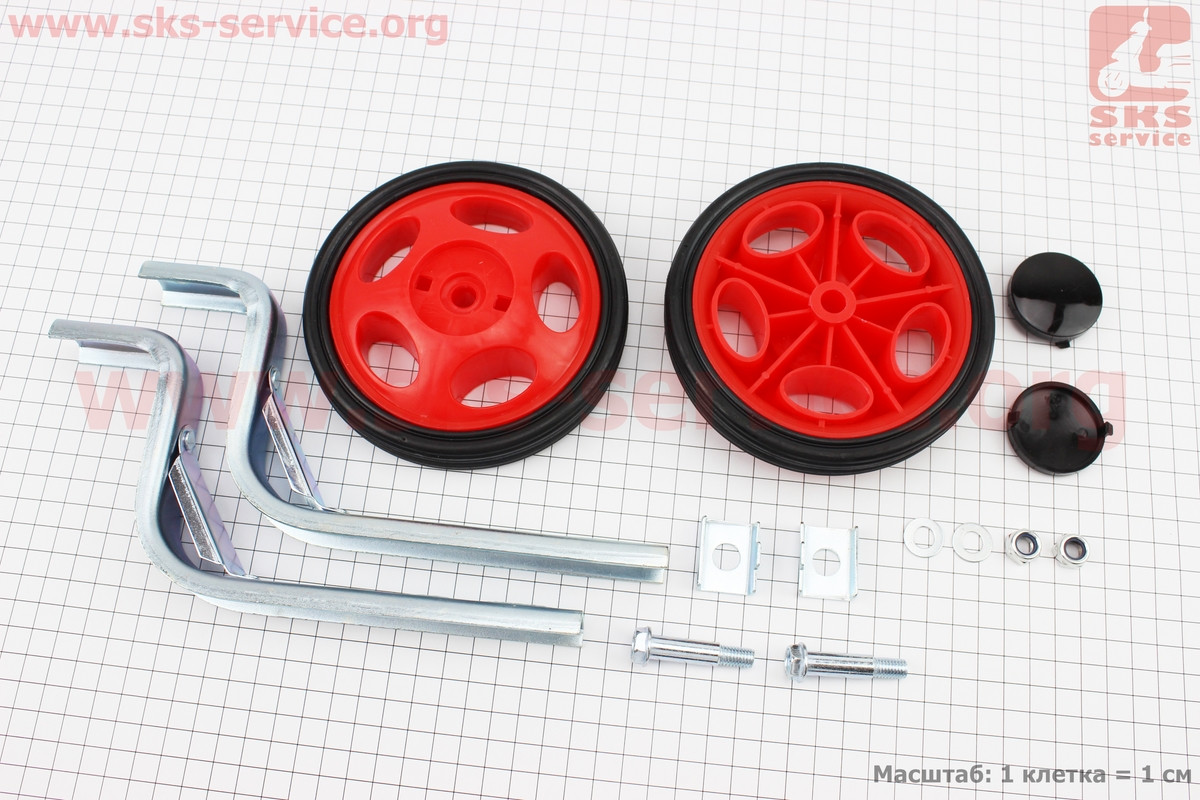 Колёса боковые универсальные, красные Lumari HR20