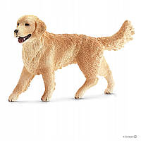 Schleich 16395 Собака Голден Ретривер Female Golden Retriever Figurine, Brown
