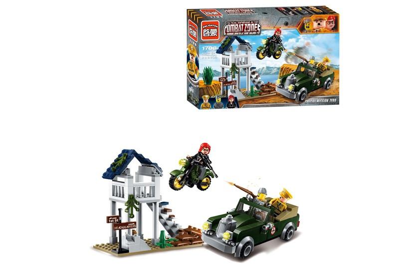 """Конструктор """"Brick"""" 1708 """"Сторожевой пункт"""" 206 дет., в собранной коробке"""