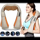 Універсальний роликовий масажер для спини, плечей і шиї з ІЧ-прогріванням Massager of Neck Kneading, фото 2