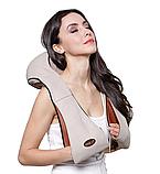 Універсальний роликовий масажер для спини, плечей і шиї з ІЧ-прогріванням Massager of Neck Kneading, фото 4