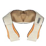 Універсальний роликовий масажер для спини, плечей і шиї з ІЧ-прогріванням Massager of Neck Kneading, фото 7