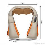 Універсальний роликовий масажер для спини, плечей і шиї з ІЧ-прогріванням Massager of Neck Kneading, фото 10