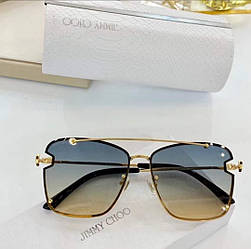 Сонцезахисні окуляри Jimmy Choo AMBRA/S Весна-літо 2021 Прямокутні Авіатор золота оправа Градуйовані