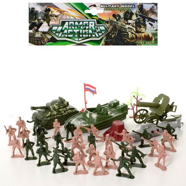 Солдаты в наборах 821-7 комбат, военная техника, в кульке, 21,5-27-6см