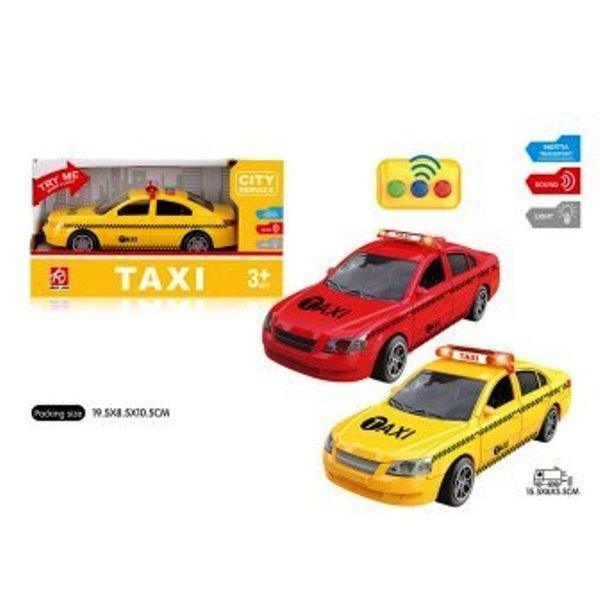 Машина легковая RJ6663 такси инерц. муз. свет. 2 цв. кор. 19,5*8,5*10,5 см