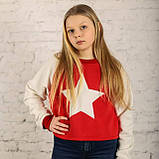 Детский теплый трикотажный свитшот (худи, толстовка, реглан, кофта) Звезда (599), фото 2