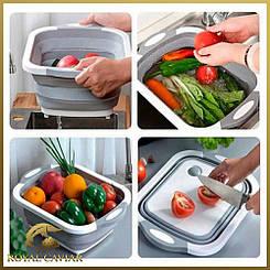 Складна обробна дошка для миття та різання овочів   Багатофункціональна обробна складана дошка