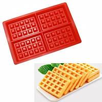 Силиконовая форма прямоугольная для выпечки - Вафли, вафельница домашняя