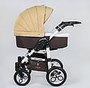 Коляска для дітей Saturn ЛЬОН БІЛА РАМА 0186-L10 колір шоколадно-БЕЖЕВИЙ, фото 5