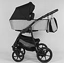Дитяча коляска 2 в 1 Expander ELITE ELT-70406 колір Silver, тканина з водовідштовхувальним просоченням, фото 2