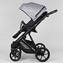 Дитяча коляска 2 в 1 Expander DEXO D-15022 колір GreyFox, водовідштовхувальна тканина + еко-шкіра, фото 2