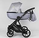 Дитяча коляска 2 в 1 Expander DEXO D-15022 колір GreyFox, водовідштовхувальна тканина + еко-шкіра, фото 3