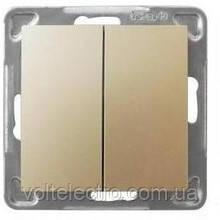 Выключатель 2-кл  OSPEL IMPRESJA GOLD  250V/16A