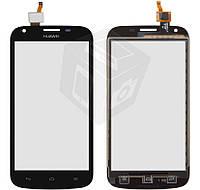 Touchscreen (сенсорный экран) для Huawei Ascend Y600-U20 Dual Sim, оригинал (черный)