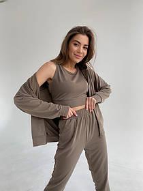 Жіночий спортивний костюм трійка 5 кольорів 13-366