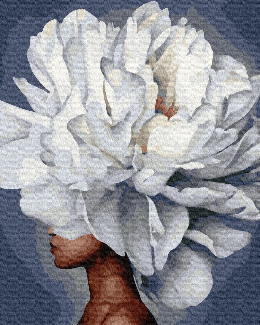 Картина по номерам Цветущий профиль Brushme Premium 40 х 50 см PGX36780