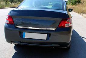 Peugeot 301 Накладки на кромка багажника (нерж.) OmsaLine - Італійська нержавійка