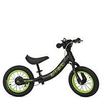 Беговел (велобег) на надувных колесах 12 дюймов (W1202-3) черный