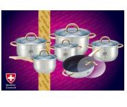 Набор кастрюль Frico GL-3205, 12 предметов 2.1, 2.1, 2.9, 3.9, 6.5, 3.3 л. + сковорода