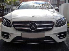 Mercedes E-klass W213 Накладка на передній бампер (нерж)