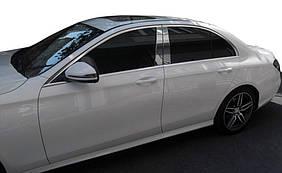 Mercedes E-klass W213 Накладки на стійки (нерж)