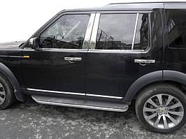 Land Rover Discovery IV Молдинг дверних стійок (6 шт, нерж.)