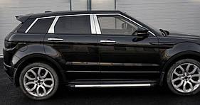 Range Rover Evoque 2012↗ гг. Молдинг дверных стоек (6 шт, нерж.)