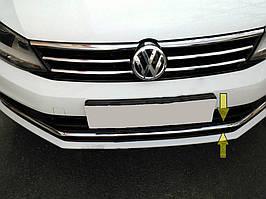 Volkswagen Jetta 2011-2018 рр .. Накладки на решітку бампера 2014-2021 (нерж)
