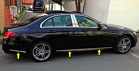 Mercedes E-klass W213 Хром на молдинг дверний (6 шт, нерж)