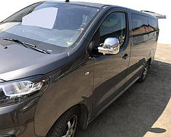 Peugeot Traveller 2017↗ рр. Накладки на дзеркала (2 шт., пласт.) Чорний хром