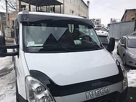 Iveco Daily 2006-2014 роках Козирок на лобове скло (чорний глянець, 5мм)
