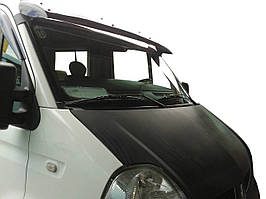 Opel Movano 2004-2010 гг. Козырек на лобовое стекло (черный глянец, 5мм)