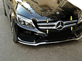 Mercedes C-Klass W205 Накладка на решітку (нерж)