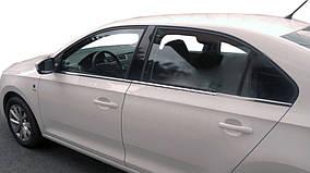 Seat Toledo 2012↗ рр. Зовнішня окантовка вікон (нерж)