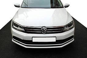 Накладки на решітку 2014-2021 (нерж) Volkswagen Jetta 2011-2018 рр ..