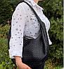 216  Натуральная кожа Объемная женская сумка на плечо Кожаная бордовая марсала из натуральной кожи сумка хобо, фото 4