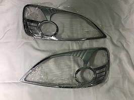 Honda CRV 2001-2006 рр. Накладки на фари (2 шт., пласт) 2001-2003