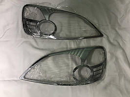 Honda CRV 2001-2006 рр. Накладки на фари (2 шт., пласт) 2004-2006